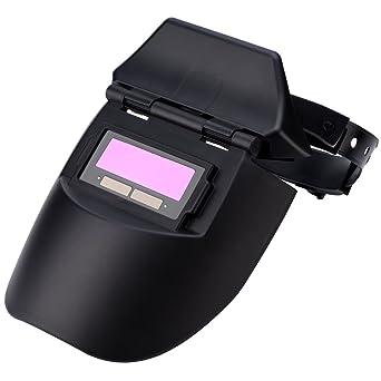 Careta de Soldar Walfront Cubierta Solar Profesional de Oscurecimiento Automático Máscara facial Protector