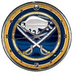 NHL Buffalo Sabres Chrome Clock, 12 x 12