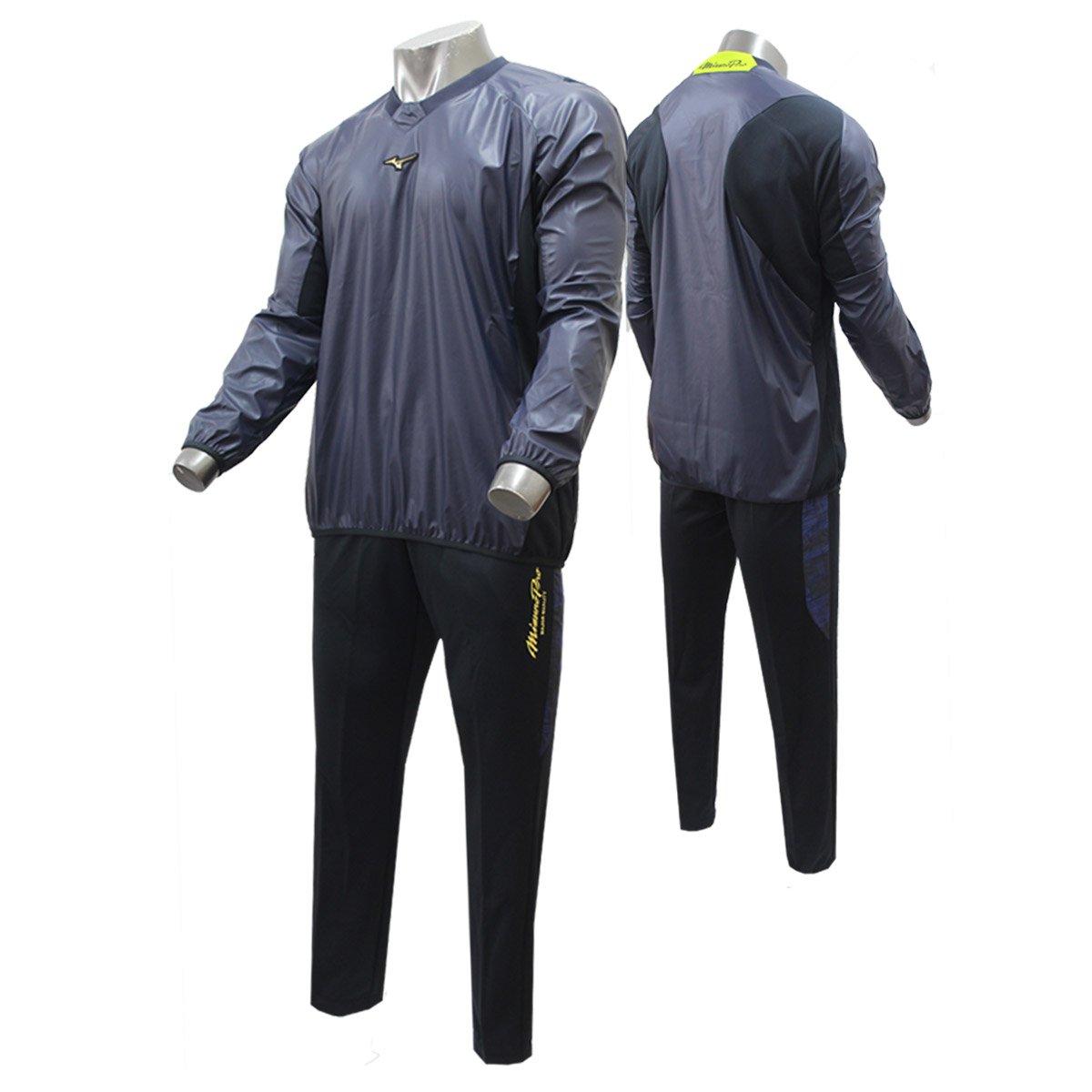 ミズノ 限定 ミズノプロ トレーニングジャケット V首 長袖 パンツ 上下セット セットアップ 12JE7J84-12JF7W82 ロイヤルプロダクト B075TTY7HF Large|14ネイビー×14ネイビー 14ネイビー×14ネイビー Large