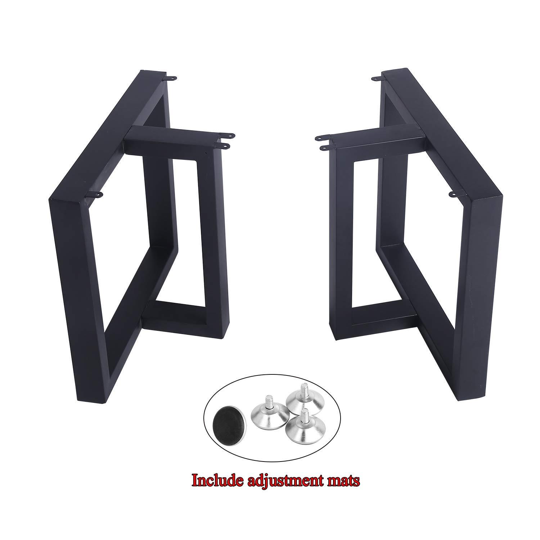 MBQQ Furniture Legs 15.7''Height 17.5''Wide Rustic Decory T Shape Table Legs,Heavy Duty Metal Desk Legs,Dining Table Legs,Industrial Modern, DIY Cast Iron Bench Legs