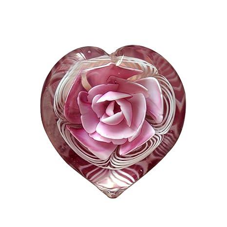Bola de cristal con diseño de girasol/de rosa (con forma de corazón)