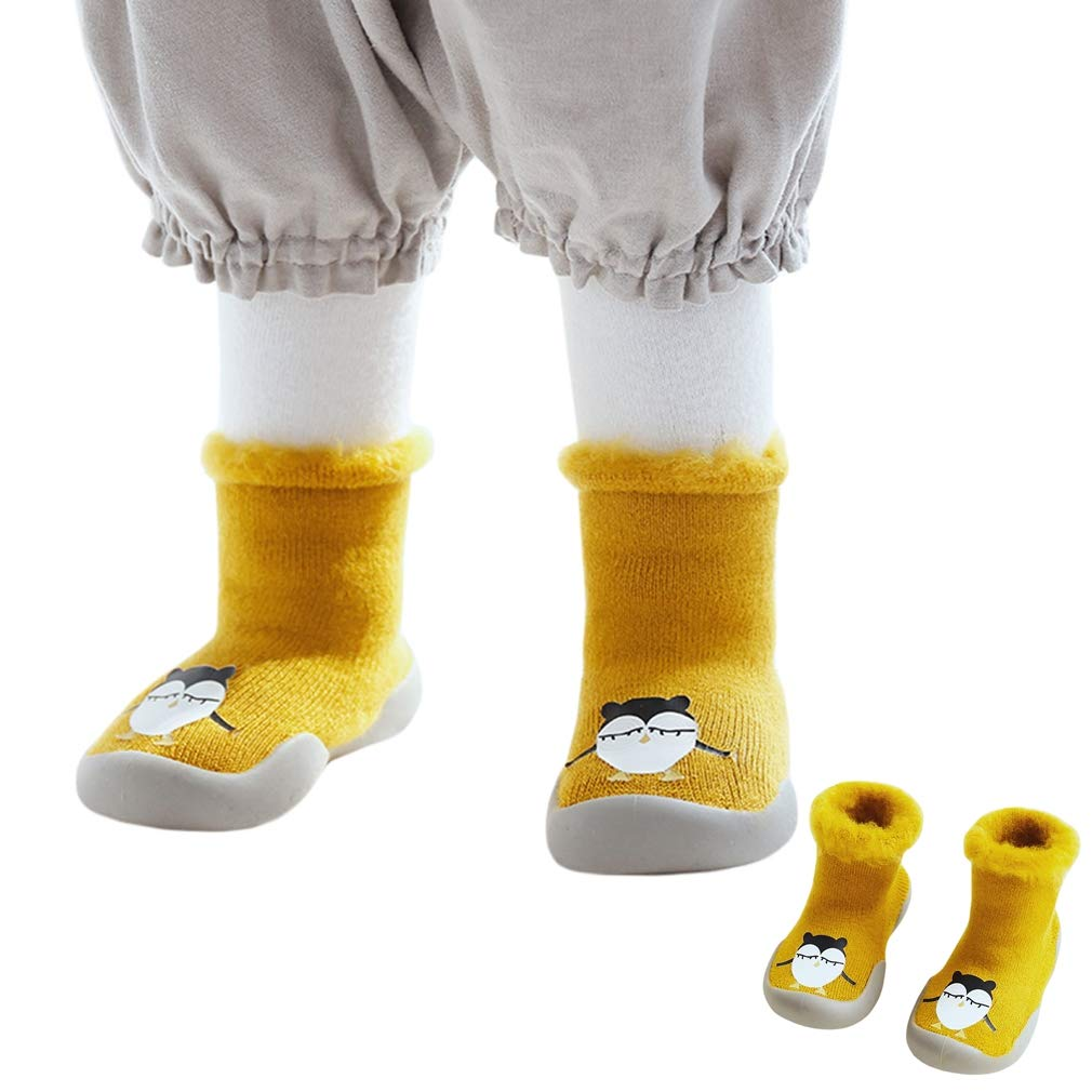COMVIP 3Styles Toddler Thick Cartoon Anti-slip Home Daily Floor Silpper Socks