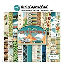 Carta Bella Paper Company CBGO55015 The Great Outdoors 6x6 Paper Pad