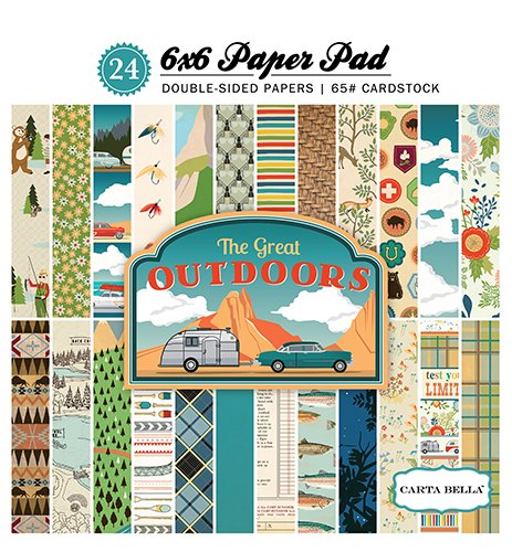 Great Outdoors Scrapbook Kit - Carta Bella Paper Company CBGO55015 The Great Outdoors 6x6 Paper Pad