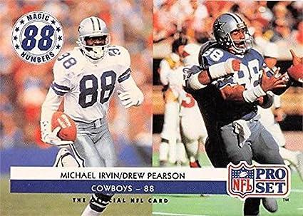 5bbaf8bbe Michael Irvin   Drew Pearson Football Card (Dallas Cowboys) 1992 Pro ...