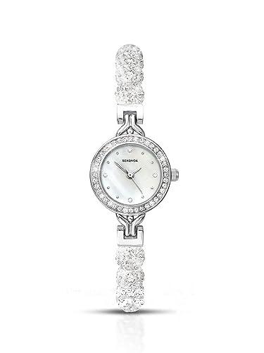 a875684d53e9 Sekonda 4106 White Crystalla Watch: Amazon.co.uk: Watches