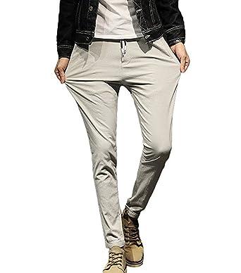 huateng Pantalones de Caballero Pantalones de Traje de ...