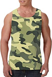 SHARP-Q Dazzle Colour Men Tank Vest Man Funny Tank Tops