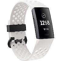 Fitbit Charge 3 Pulsera Avanzada de Salud y Actividad física, Unisex-Adult, Blanco Hielo…