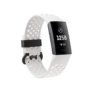 4b67db53763b Fitbit Charge 3 Pulsera Avanzada de Salud y Actividad física, Unisex-Adult,  Grafito/Blanco, Talla Unico