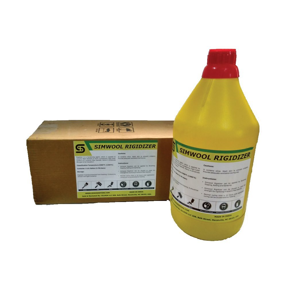 Simwool Rigidizer - Coating for Ceramic Fiber Blanket - 1 Gallon by Unknown (Image #2)