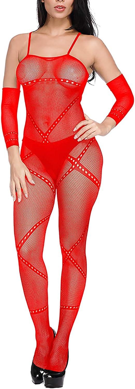 6 Colors 6 Pcs Women Fishnet Bodysuits Stockings Lingerie Lace Sleepwear Nightwear for Lingerie Party Date Wearing