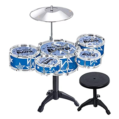 nurrat Simulation Jazz Drum Hitting Drums Children Musical Instruments Toys Set Drums & Percussion: Toys & Games
