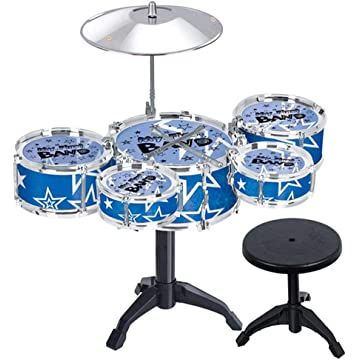 nurrat Simulation Jazz Drum Hitting Drums Children Musical Instruments Toys Set Drums & Percussion