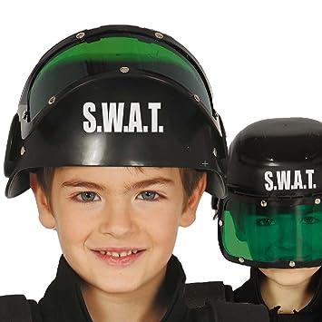 Amakando Gorro policía Infantil Casco SWAT niño Protección Cabeza Unidad  Especial Accesorio Agente de la Ley Gorra S.W.A.T. Complemento Fuerzas del  Orden  ... 2f5acf816fd