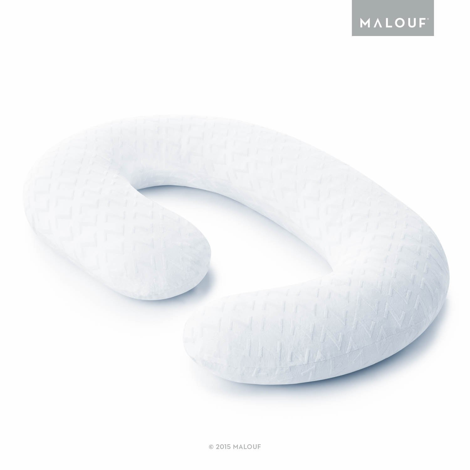 MALOUF Z Total Body C-Shape Pregnancy Pillow - Wrap Around Ultra Supportive Sleeping Pillow ZZPJHFGM