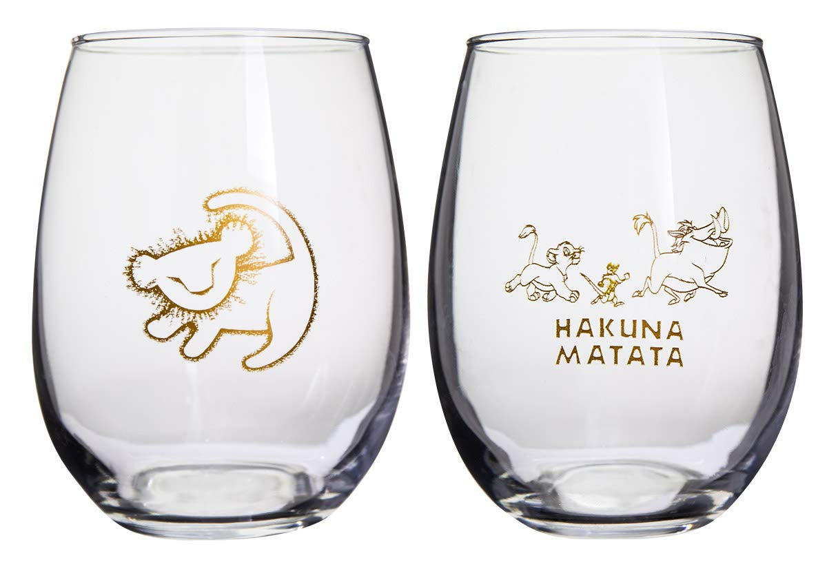 Disney Collectible Wine Glass Set (Beauty & The Beast) 00864