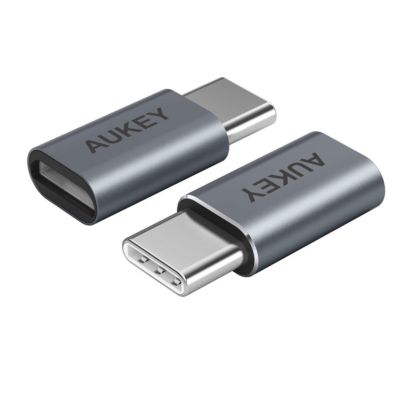 Porta AUKEY USB C a Micro USB Adattatore in Alluminio