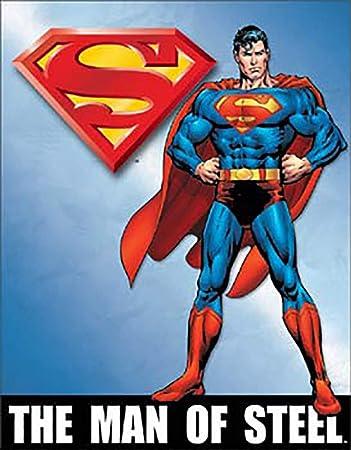 Superman Superhero Cartoon Characters Collectible Tin Wall Decor Sign Man Cave