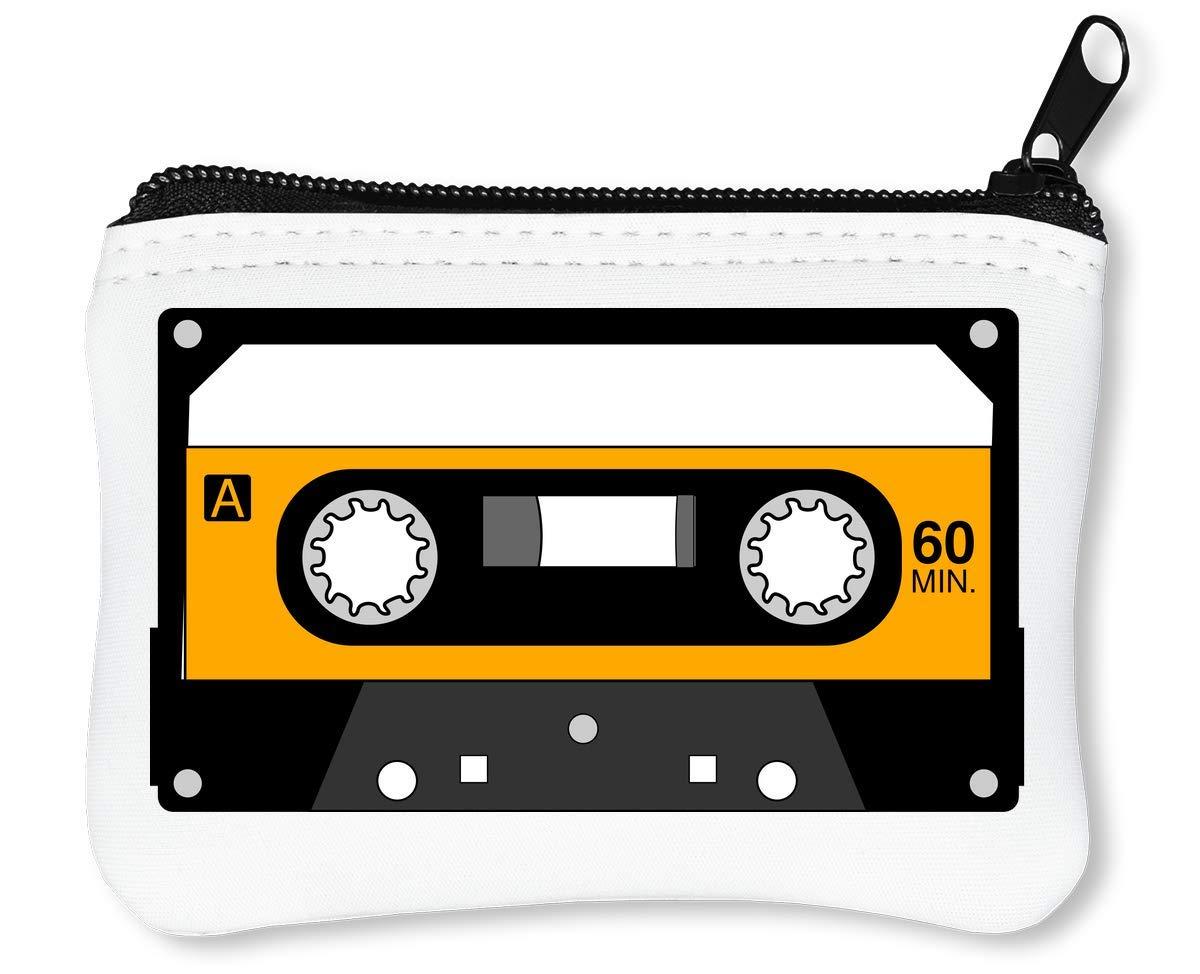 Minimalistic Yellow Cassette Tape Graphic Billetera con ...