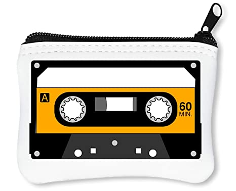 Minimalistic Yellow Cassette Tape Graphic Billetera con ...