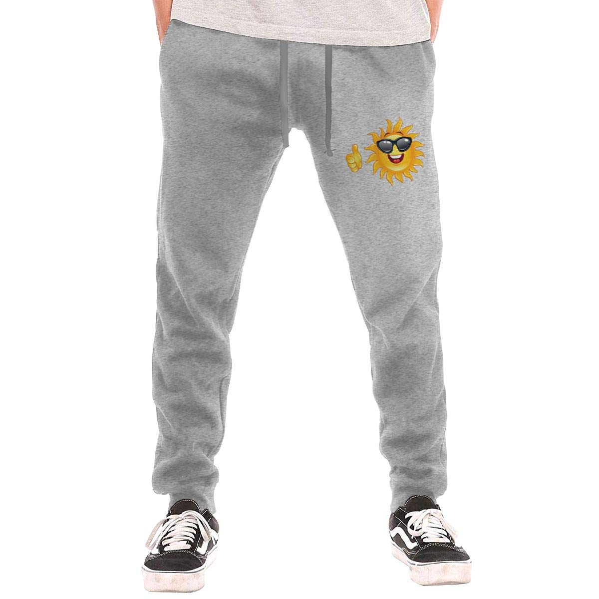 Sunshine Shop Happy Summer Mens Elastic Personality Pattern Casual Trousers