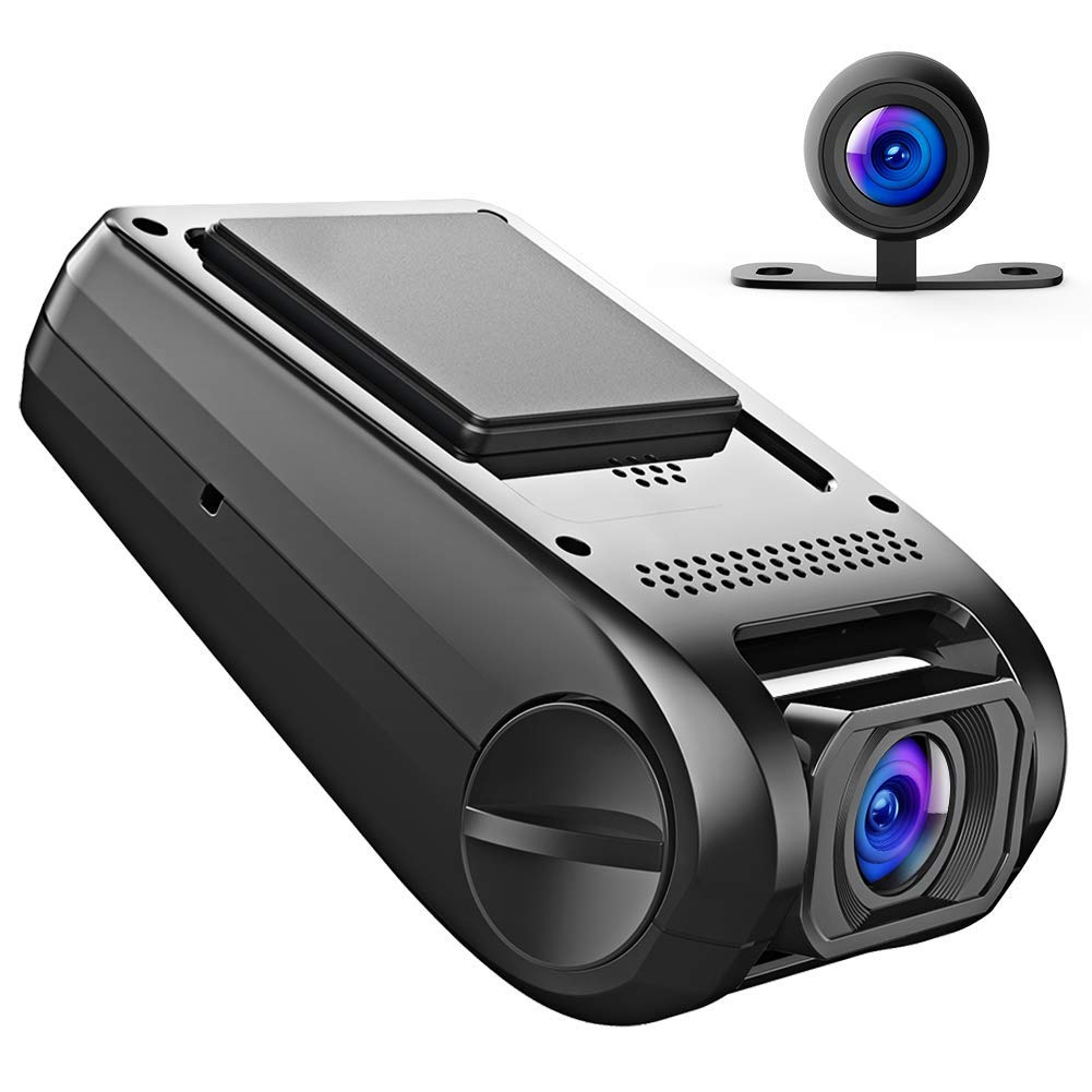 APEMAN 1080P FHD Dual In Car Dash Cam Camera DVR Digital Driving Video Recorder Front Cam and IP67 Water Resistance Rear View 170° Wide Angle 6G Lens with WDR, Loop Recording, G-sensor,Motion Detection C550