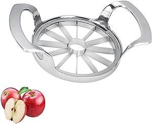 Slicer for Apple, Stainless Steel 12 Blade Ultra Sharp Extra Large Fruit Slicer Corer Cutter Peeler Wedger Chopper for Home, Office, School