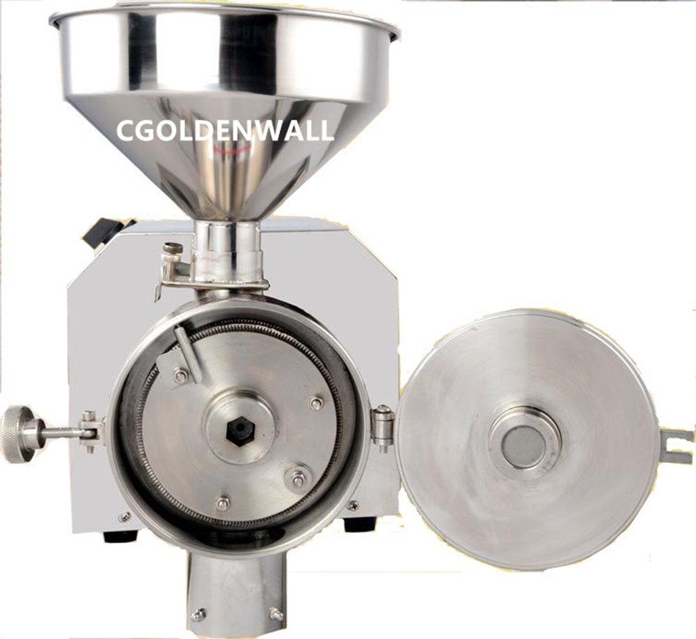 CGOLDENWALL SY-1200 with Pedesta Small Stainless Steel Grain Mill Food Processing Machinery Multi Function Grain Grind Mill Superfine Grain Grinder Powdering Machine Lapping Machine (110V) by CGOLDENWALL (Image #3)
