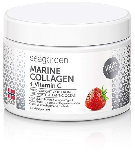 Colágeno marino noruego en polvo I con vitamina C de acerola natural|100% natural