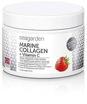 Colágeno marino noruego en polvo I con vitamina C de acerola natural|100% natural I de bacalao salvaje del océano Atlántico norte| Suplemento para ...