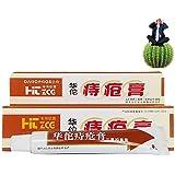 Hua Tuo Emorroidi Pomata,Natural Herbal Materials Potente Emorroidi Crema Crema Anale per Emorroidi Interne Mucca Ragade Anale Esterna, 25g
