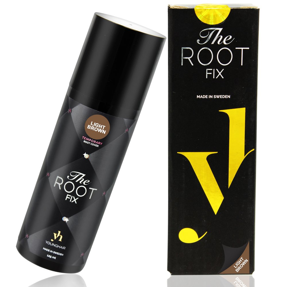 YoungHair The Root Fix - Dunkelbraun Haarfarbe spray - Magic Retoucher - Ansatzspray für graue Haare - Farbspray - Haarspray Farbe Retouch 125 ml YH225