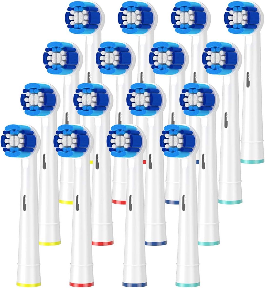 ITECHNIK Compatible Braun Oral b recambios para cepillo,cabezales de repuesto Eléctrico recargable Oral-B Clean Precision eb20 (16)