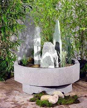 STELLA de granito de mecanismo de piedra con bombín de jardín de fuente con juego de agua de piedra de fuente de roca de la fuente: Amazon.es: Hogar