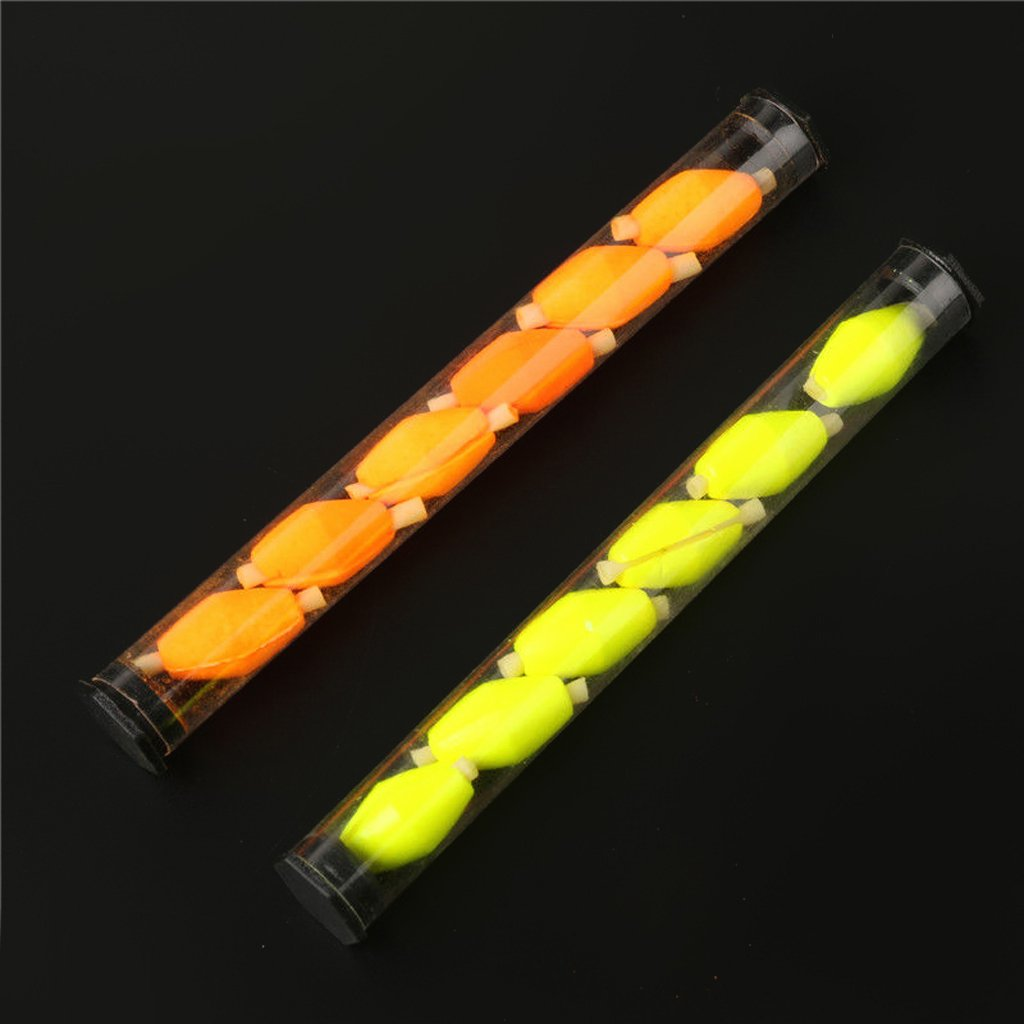 Orange 6Pcs Tube Float Foam Strike Indicator For Fly Fishing
