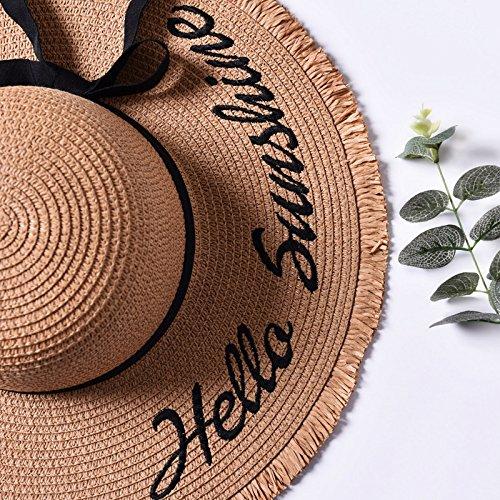 50%OFF Sombrero para el sol de verano femenina sombrilla tapa bordado  inglés ocio protector 981828cffca