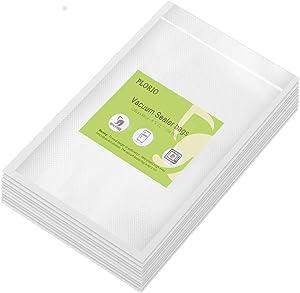 Thicken!! PLORIO 100 Quart 8 X 12 inch Food Saver Vacuum Sealer Bags Freezer Storage Vacuum Bags Pre-Cut Vacuum Seal Bag, for Food Saver Seal a Meal Heavy Duty Commercial Grade Freezer, BPA Free Food Grade Raw Materials, Great For Meal Prep or Sous Vide