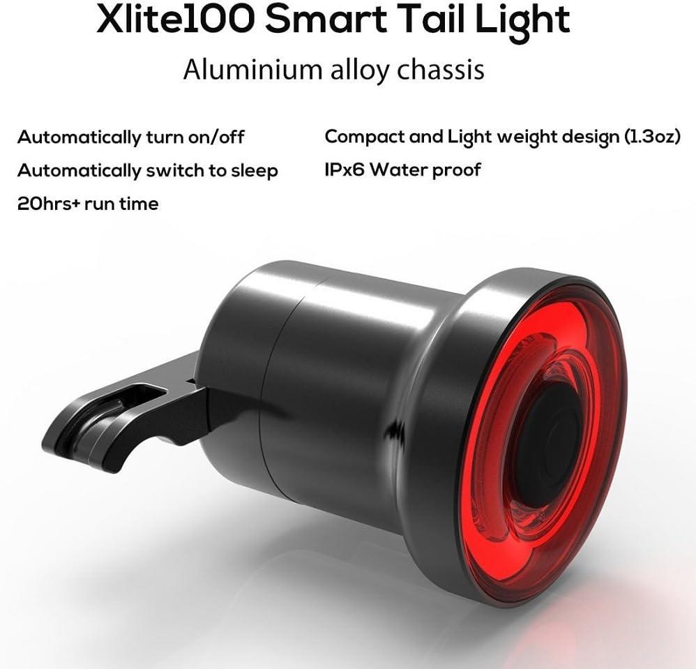 Xlite100 Intelligent Bike Tail Light /& Usb Charging Led Induction Brake Lamp US