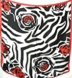 Silk Salon Brand New 100% Silk Satin Scarf Shawl Wrap Rose Black Red White A352