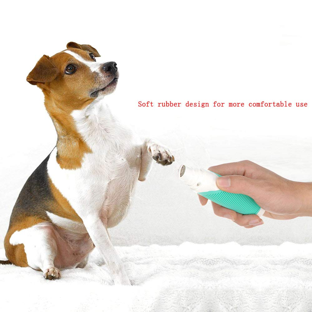 ZNZN Pet Electric Nail Polisher, Professional Dog Nail Grinder with Safety Cover, USB Charging, Super Power, Low Noise and Low Vibration