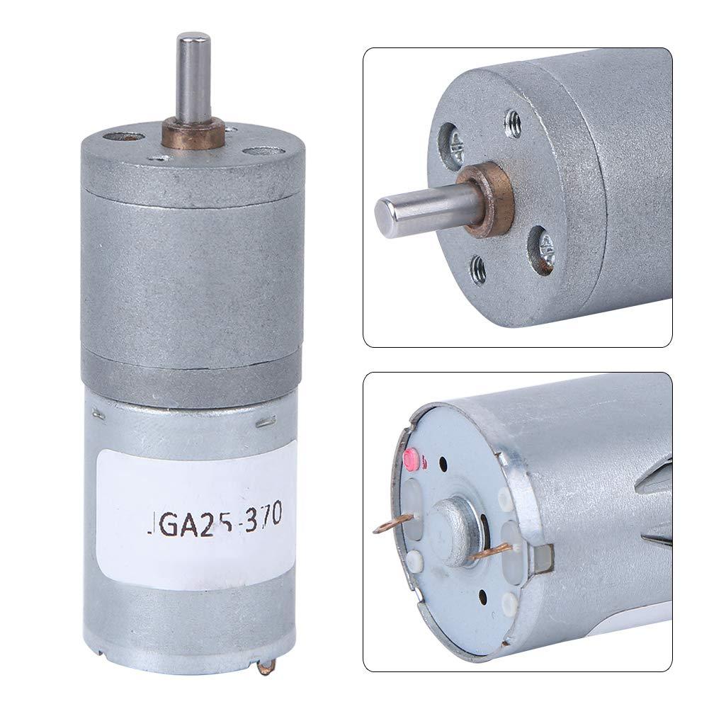 Motor de engranaje de CC, 12 V 24 V Motor de engranaje de CC Suministros eléctricos de bajo ruido para robots/ventiladores/bombas/centrífugas/actuadores