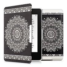 kwmobile Funda para Amazon Kindle Paperwhite - Carcasa para e-Reader de [Cuero sintético] - Case con diseño de Flor