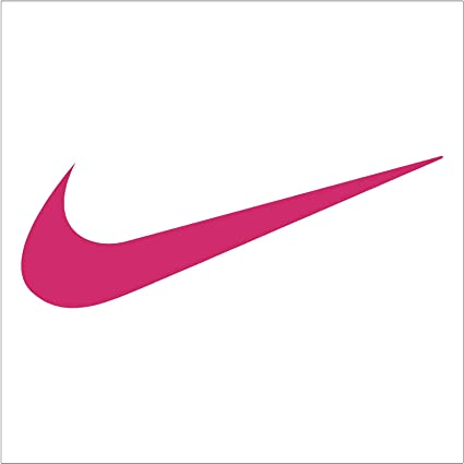 amazon com nike swoosh shoe logo sticker decal 9 pink rh amazon com pink nike golf shirt pink nike golf balls