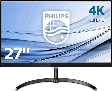 Philips 276E8VJSB, Monitor Uhd 4K (Resolución 3840 X 2160, Flickerfree, Lowblue Mode, 5Ms, IPS, Hdmi, Displayport), HDMI, 27 Pulgadas, Negro: Philips: Amazon.es: Informática