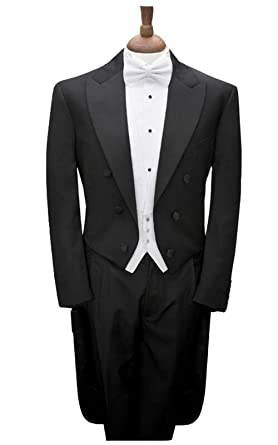 e733455aea Slim Fit Morning Style Groom Tuxedos Peak Lapel Men's Suit Groomsman/Best  Man Wedding/Prom Suits