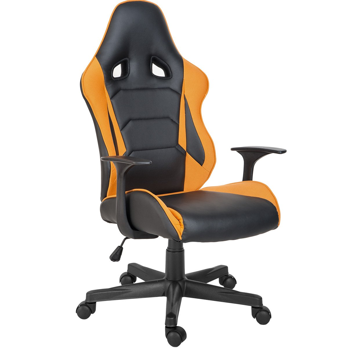 Modern Luxe Odyssey Series Executive Office Gaming Chair with Adjustable Lumbar Support and Headrest in Soft PU Leather and Mesh Fabric by Modern Luxe