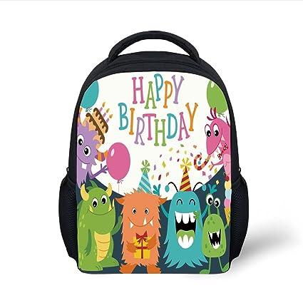 f33eea61bae8 Amazon.com  iPrint Kids School Backpack Birthday Decorations for ...