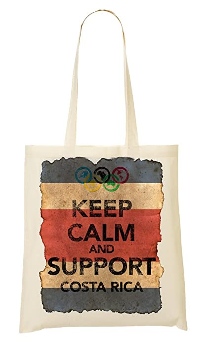1GD Vintage Keep Calm Support Costa Rica Bolso De Mano Bolsa De La ...