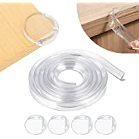Qniceone Safety Edge Corner Protector Set, Clear Baby Proofing Guards, Soft Silicone Bumper Strip 15.7ft(4m) with Round…